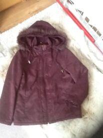 Size 14 hooded jacket