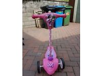 Girls Minnie Mouse Activity Scooter