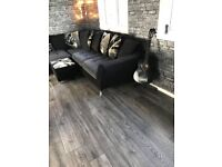 8mm Grey charcoal laminate flooring fully fitted 5x4 20m2 Underlay beading fiting delivery