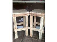 Reclaimed Wood Bar Stools