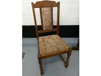 Embroidered Wooden Dining Chairs