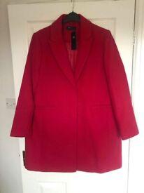 M & S Pink Coat size 20 BNWT