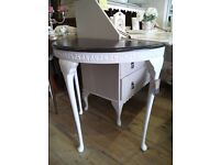 Amazing painted demi lune console Table.