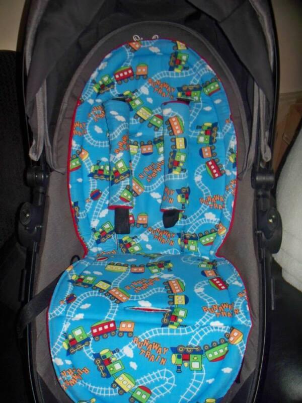 car vehicle dinosaur silver cross surf pram pushchair liner and harness pads