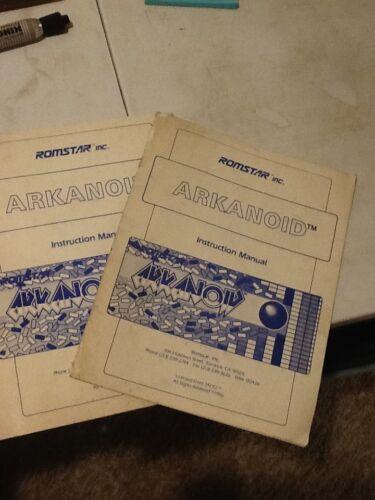 Romstar Arkanoid arcade operations manual