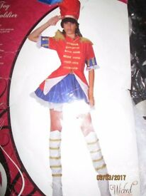 TOY SOLDIER FANCY DRESS OUTFIT SIZE 12/14 GREAT FOR PARTY CHRISTMAS OR NEW YEAR