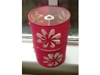 2 X great condition pink ceiling lampshades