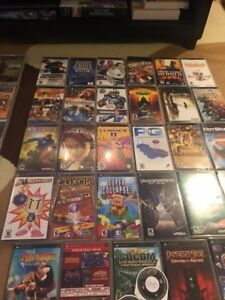 PSP with movies and games