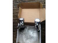 Crome brand new bath taps