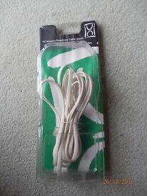2 PC MODEM/TELEPHONE CABLES