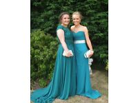 2016 Size 12 Teal Prom Dress