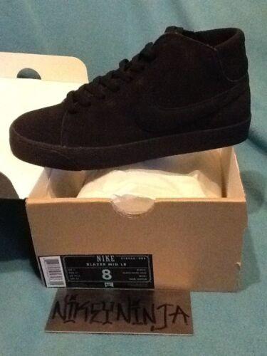 Nike SB Blazer Mid LR Black/Black Grey Size 8