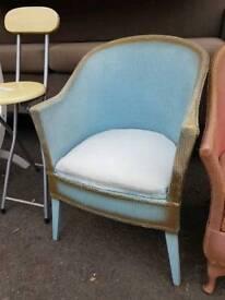 Lloyd loom pink+blue chairs £10 each