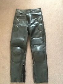 Ladies leather motorcycle jeans