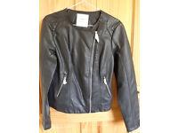 New women black biker jacket