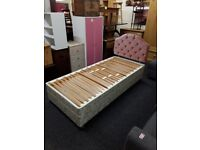 Single bed frame & Headboard Copley Mill Low Cost Moves 2nd Hand Furniture STALYBRIDGE SK15 3DN