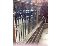 Wrought iron decking rails