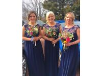 I have three amazing Sistaglam navy bridesmaid dresses for sale. RRP £120 each