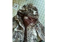 Girls furry coat