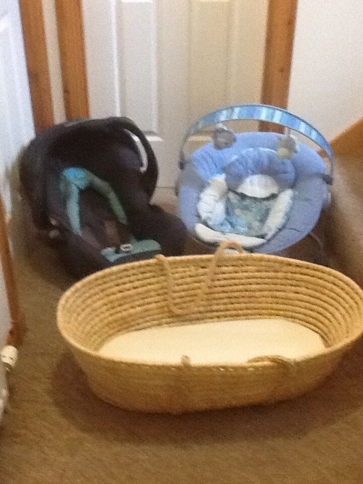 Child Car Seat Bouncer Chair Amp Moses Basket In