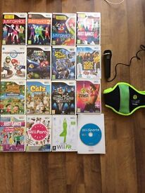 Nintendo wii for sale! with 16 games, 2 steering wheels and other accesories £80 ono