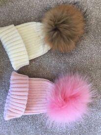 New fur Pom Pom hats