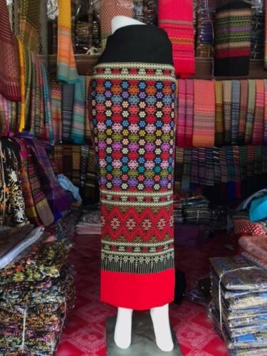 Hand woven cotton sarong, Myanmar wrap sarong, Thai cotton, Myanmar dress