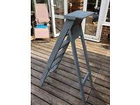 Grey painted rustic step ladder