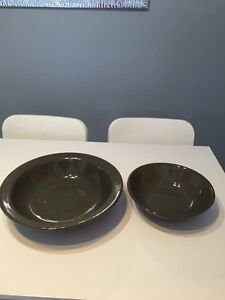 Set Of 2 hand crafted serving bowls.