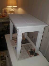 Side table coffee shabby chic nest table