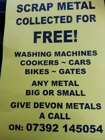 free collection of unwanted washing machines etc white goods