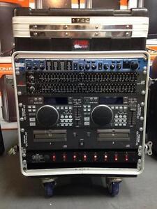Gator Cases GRC12X10PU with LEXICON MX200-DBX 231-TASCAM CD-X1700-CHAUVET PC 08