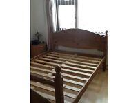Wooden Kingsize Bed Frame FOR SALE (NO mattress) £75!!