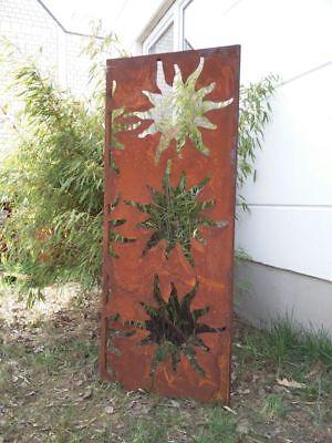Sichtschutz Edelrost Metall Garten Muster Gräser und Schmetterling Art.1706