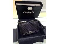 Chanel Caviar Leather Le Boy 30cm