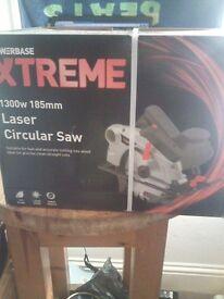 1300w 185mm Laser Circular Saw - (Brand New)