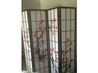 Selling room divider , excellent condition. Selling due to grandson arriving.