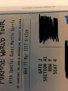 JUSTIN BEIBER SYDNEY MARCH 15TH SECTION A1 Mascot Rockdale Area Preview
