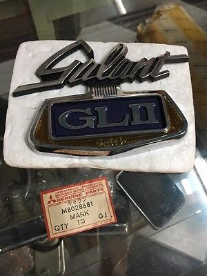 MITSUBISHI Galant Colt GTO GL II EMBLEM Badge Genuine Parts NOS JAPAN MB028681