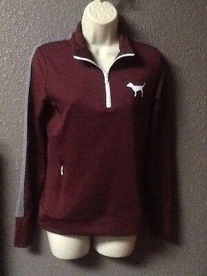 Victoria's Secret PINK Maroon Ultimate Sweatshirt Track Jacket Sz XS NWTs $59.95