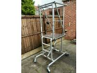 Youngmans mini tower scaffold, 1 meter platform with safety rail