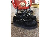 Creepers, black suede (size 5) NEW!!!