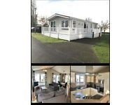 LODGE/STATIC CARAVAN FOR SALE INCLUDING DECK & 2018 SITE FEES.GREAT YARMOUTH.NORFOLK.LOWESTOFT.
