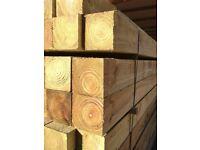 timber wood posts