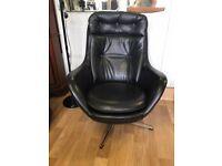 Vintage Retro MCM Parker Knoll Swivel Chair