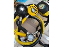 Apeks ATX 40 scuba Diving Regulators, SPG and Compass (in service)