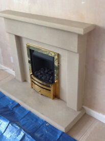 Fireplace & Surround - Fairstone Airedale Yorkstone with Paragon Gas Fire