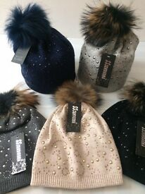 Real Raccoon Fur Hat All colours