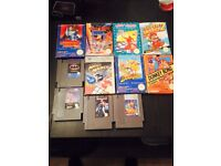 Nintendo nes games and controller