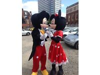 Mascot hire in Leicester Olaf, Minion, fireman Sam, mini, Micky, Peppa, George, Spider-Man and more